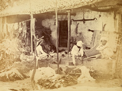 Preparing sheepskins for tanning, Ahmadabad